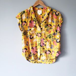 Anthropologie Maeve Floral Button Up